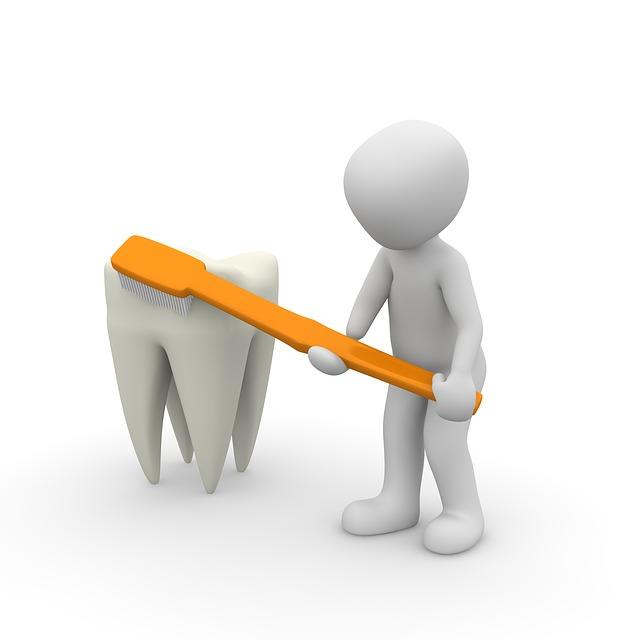 čištění zubu